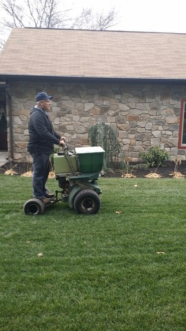 Mark using Fertilization Spreader