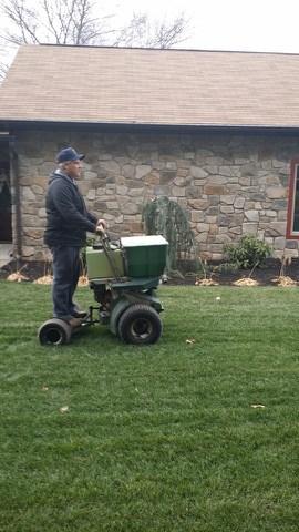 Mark using Fertilization Spreader